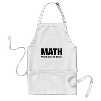 MATH Mental Abuse To Humans Adult Apron