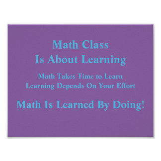 Math Mindsets Poster-Learned by Doing Poster