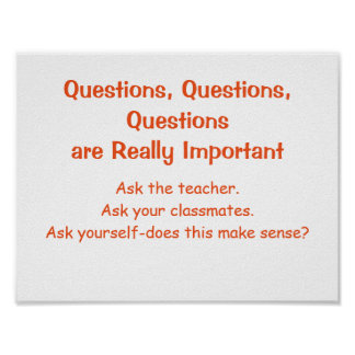 Math Mindsets Poster-Questions Poster