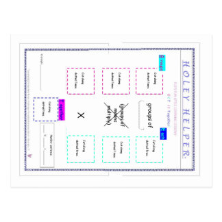 MATH.MULT.120.1 HOLEY HELPER DIRECTIONS CARD POST CARDS