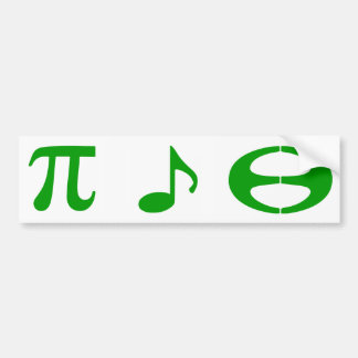 Math Music Esperanto - Car Bumper Sticker 4