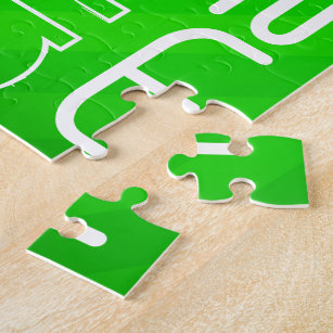 Math Neon Green Stripes Jigsaw Puzzle