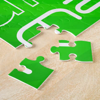 Math; Neon Green Stripes Jigsaw Puzzle