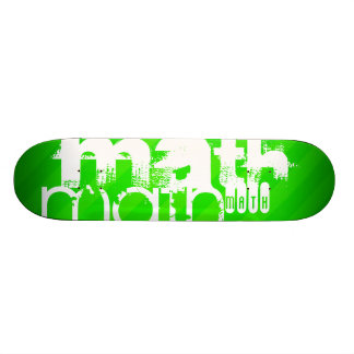 Math; Neon Green Stripes Skateboard Deck