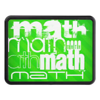 Math; Neon Green Stripes Tow Hitch Cover
