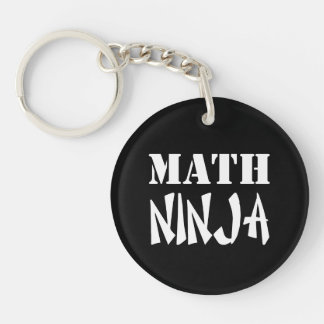 Math Ninja Single-Sided Round Acrylic Keychain