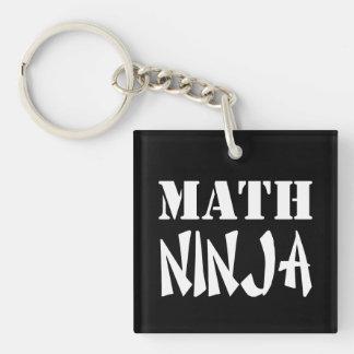 Math Ninja Single-Sided Square Acrylic Keychain