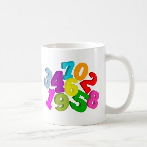 math numbers in color mug