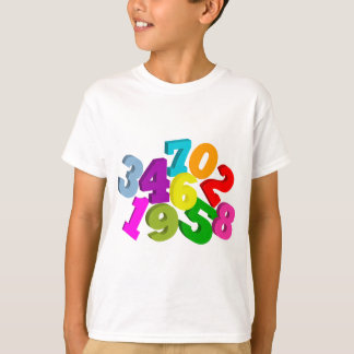math numbers in color T-Shirt