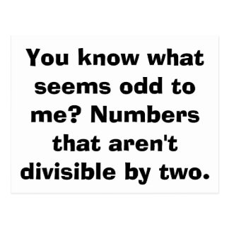 Math Odd Postcards