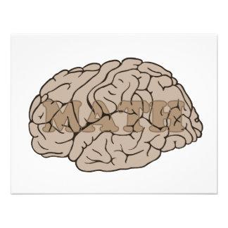 Math On The Brain Invitation