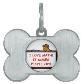 math pet ID tag