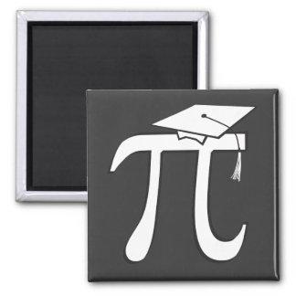 Math Pi Graduate 2 Inch Square Magnet