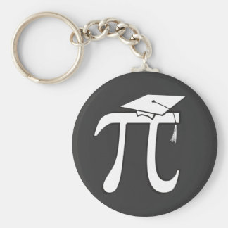 Math Pi Graduate Basic Round Button Keychain