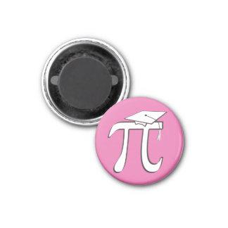 Math Pi Graduate PINK 1 Inch Round Magnet