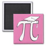 Math Pi Graduate PINK Magnets