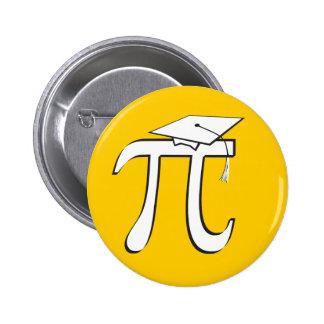 Math Pi Graduate - Yellow and White 2 Inch Round Button
