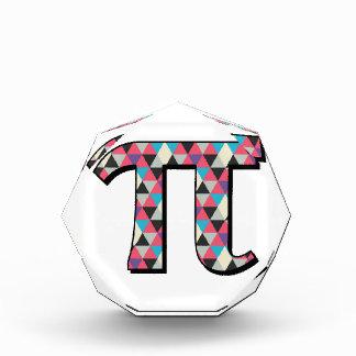 Math Pi With Cool Diamond Pattern Acrylic Award