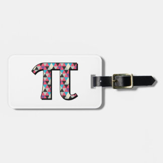 Math Pi With Cool Diamond Pattern Bag Tag