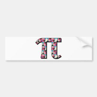 Math Pi With Cool Diamond Pattern Car Bumper Sticker