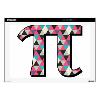 Math Pi With Cool Diamond Pattern Laptop Decals