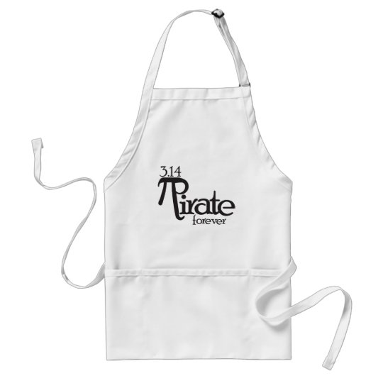 Math Pirate for Pi Day Adult Apron