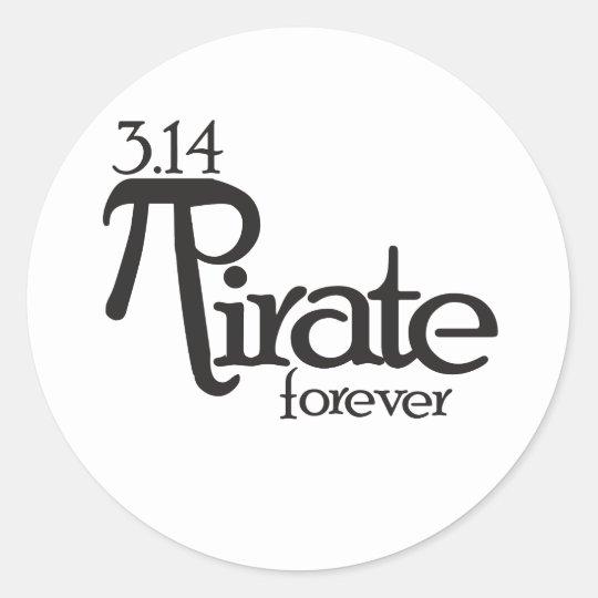 Math Pirate for Pi Day Classic Round Sticker