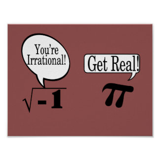 Math poster-irrational and real numbers poster
