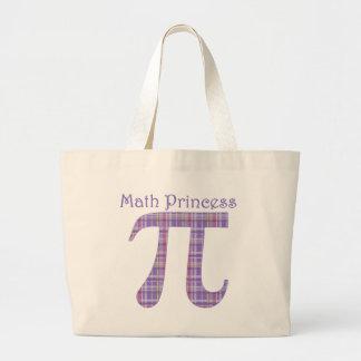 Math Princess Lavendar.png Large Tote Bag