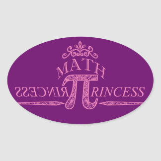 Math Princess Oval Sticker