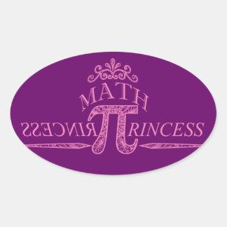 Math Princess Oval Sticker