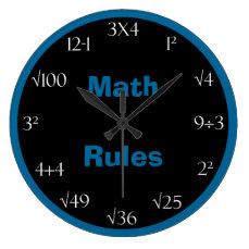 Math Problem Classroom Clock - Math Rules