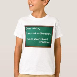 Math Problems Therapist Funny Shirt