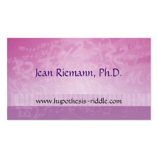 Math Prof Equations Business Card Pack Of Standard Business Cards