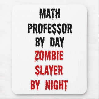 Math Professor Zombie Slayer Mouse Pad