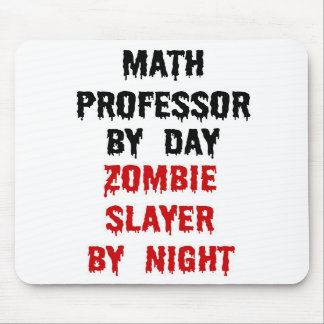 Math Professor Zombie Slayer Mouse Pad