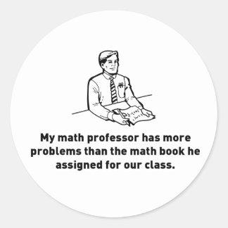 Math Professors Classic Round Sticker