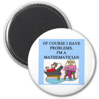 MATH psychology joke 2 Inch Round Magnet