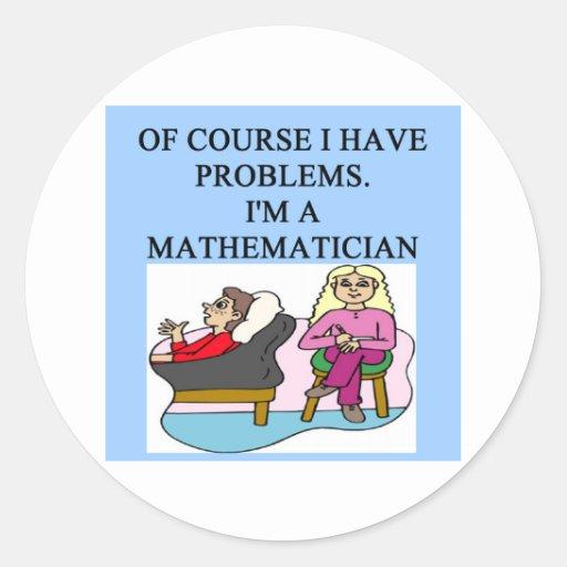 MATH psychology joke Classic Round Sticker