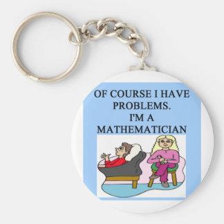 MATH psychology joke Key Chain