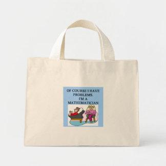 MATH psychology joke Mini Tote Bag