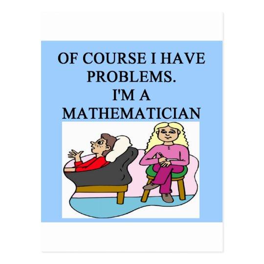 MATH psychology joke Postcard