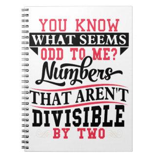 Math Pun Odd Notebook