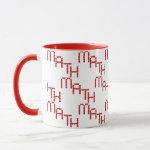 Math Red Hearts Text Mug