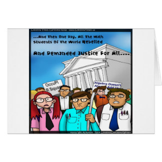Math Revolt Funny Gifts Tees & Cards Card