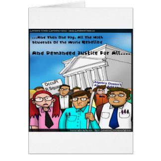 Math Revolt Funny Gifts Tees & Cards Greeting Cards