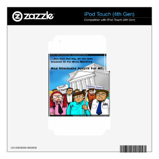Math Revolt Funny Gifts Tees & Cards iPod Touch 4G Skins