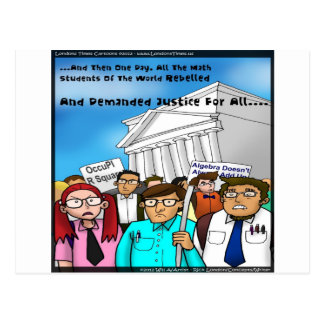 Math Revolt Funny Gifts Tees & Cards Postcard