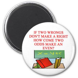 MATH riddle 2 Inch Round Magnet