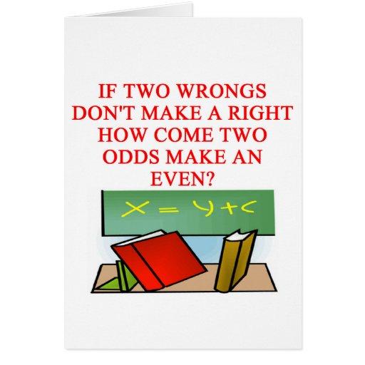 MATH riddle Card